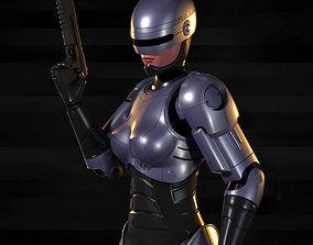 3D model Robocop-Woman