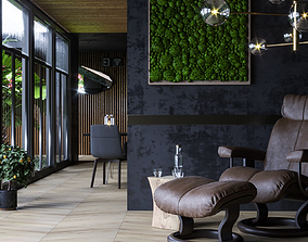 3D Tropical Room For cinema 4D Corona render