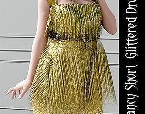 3D Dforce Nancy short glittered Dress