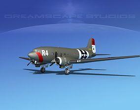 Douglas C-47 Dakota USAAF V3 3D