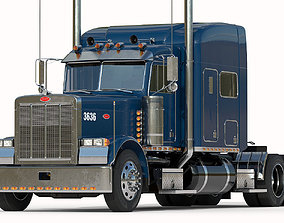 3D model Detailed Peterbilt 379 with interior hquality