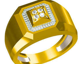 3D printable model Mens diamond engagement rings 2