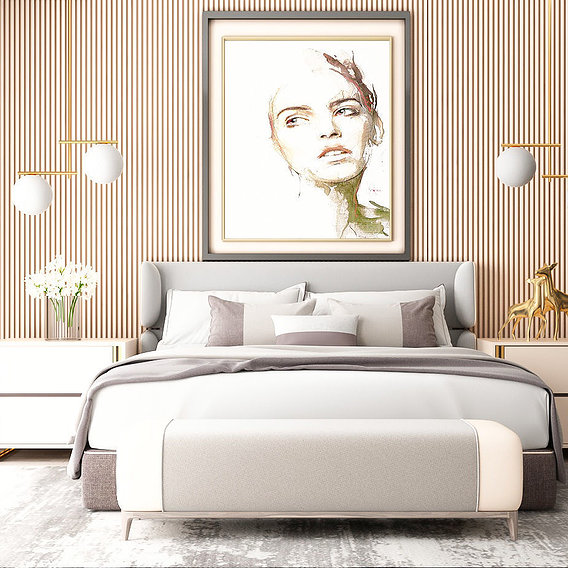 Bedroom modern CREAM color