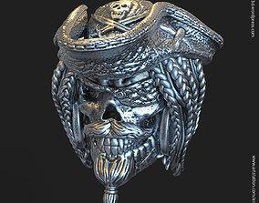 3D printable model Pirate skull vol2 pendant