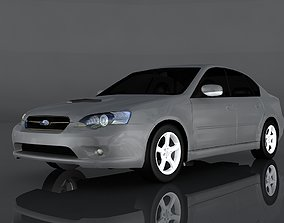 3D model low-poly Subaru Legacy B4