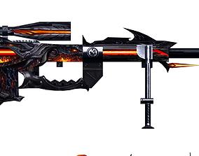 3D model Gun Cheytac Diablo Hand painted