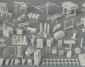 gas 3D model Factory Units-part-4 - 49 pieces