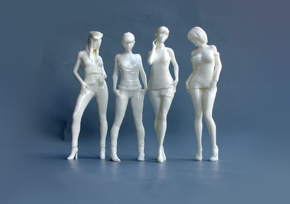 3d print of girls in 18 scale