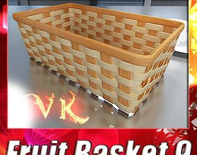 3D model Wicker Fruit or Bread Basket 2