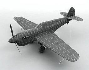 3D asset Curtiss P40-E Aircraft
