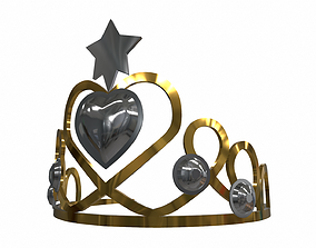 3D model Princess crown