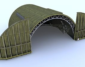 3D model Aircraft Shelter Low Poly - Seamless textures