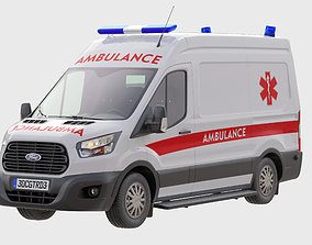 Ford Transit Ambulance - Police 3D
