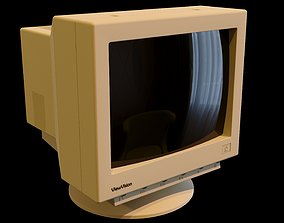 Old PC Monitor 3D 90s