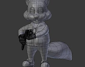 3D print model Conker the Squirrel with a Shotgun