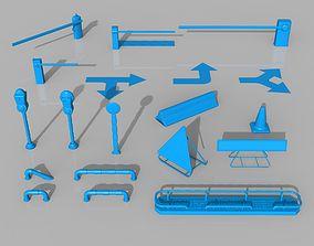 streetlight 3D model Street Stuff - 19 pieces