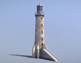 Stone Fort Lighthouse 3D asset