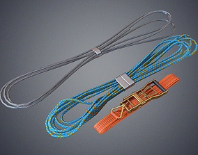 Transport belts and lines 3D model