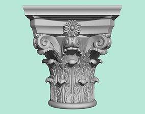 Detailed corinthian capital 3D