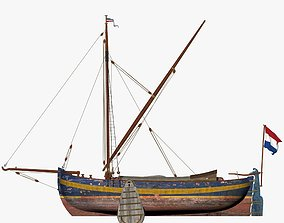 Holland Traditional Fishing Boat - Yate 3D asset