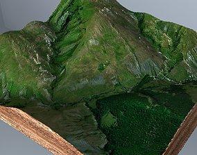 realtime Green terrain Landscape 3D model