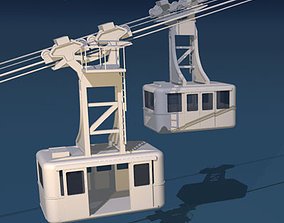 Cableway wagons 3D