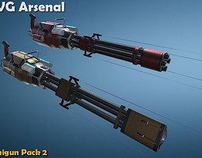 3D asset Minigun pack 2