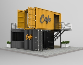 Container Cafe and Restaurant shipping 3D model