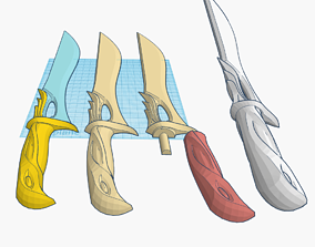 The Valorant Sovereign Knife - Two colors print enabled
