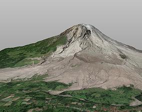 Mount Sinabung vocano 3d model realtime