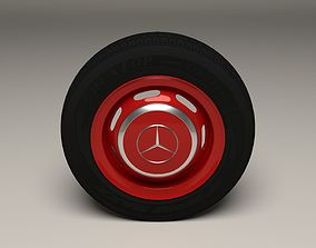 Mercedes 300SL Wheel 3D model