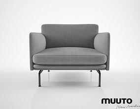 3D model Muuto Outline chair