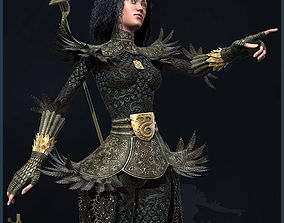 Lady Of Clubs 3D asset