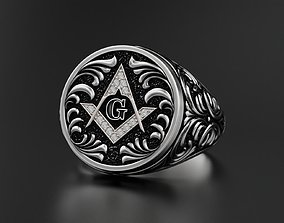 jewellery 3D printable model Mason Men ring Update