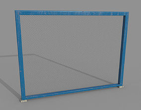 Fence mesh wired module 3D asset