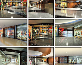 3D Shopping Mall Interior and Entry