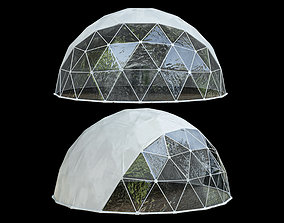 Geodesic dome 3D model awning