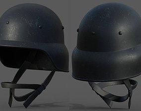 Helmet military Scifi combat soldier armor low-poly 2