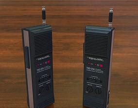 Vintage 80s Walkie-Talkie Realistic TRC-214 3D model