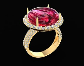 3D printable model 1716 Round ruby Ring
