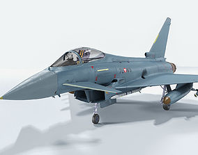 Eurofighter Typhoon 3D model rigged PBR