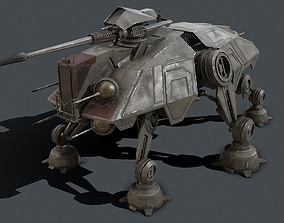 3D asset Star Wars - AT-TE