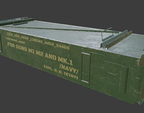 Ammo crate 3D model realtime