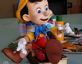 Pinocchio 3D print model - splited parts toy