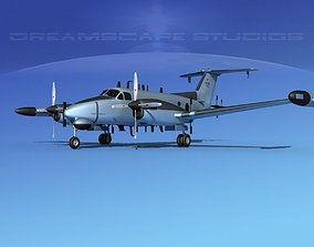 Beechcraft RC-12Q Guardrail USAF 1 3D model