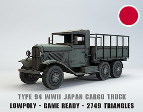 Low Poly Type 94 Army Truck 3D model low-poly