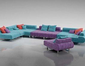 Multicolored Adjustable Sectional 3D