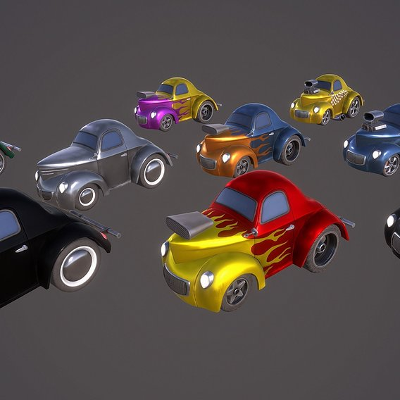 Cartoon Hot Rod Coupe