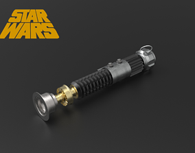 3D printable model Ben Kenobi Lightsaber ANH