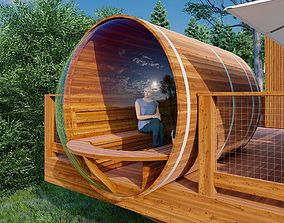 Bubble Barrel Sauna 3D